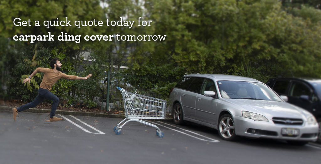 man needing insurance chasing after trolley