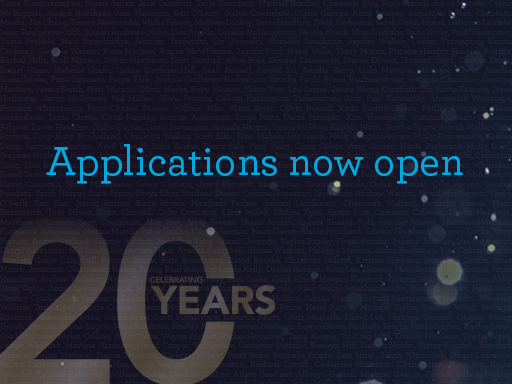 applications now open with 20 years of scholarships
